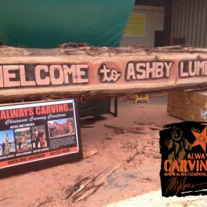 Ashby Lumber Log Sign